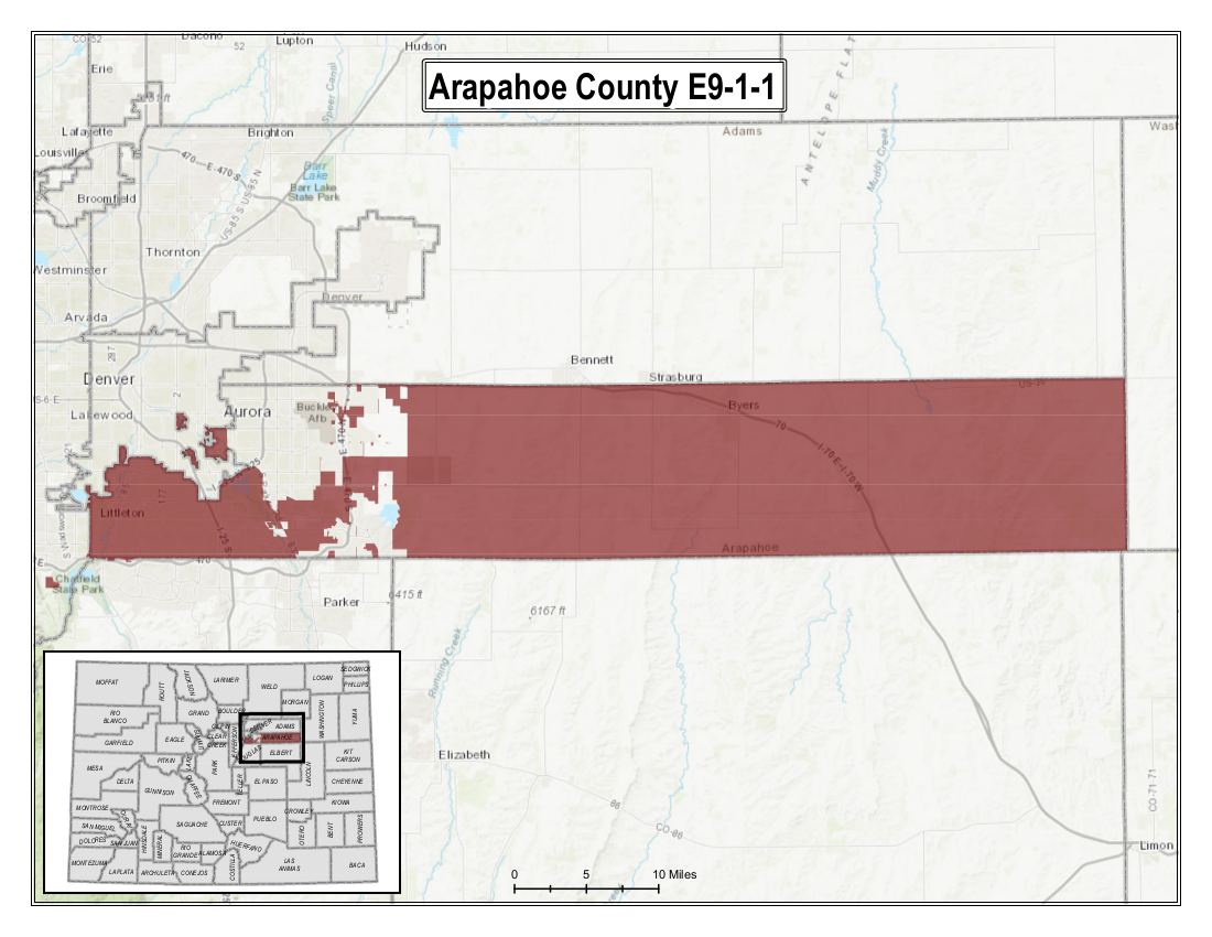 Arapahoe County Map image